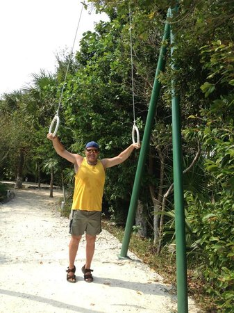 Hard Rock Hotel Riviera Maya: Jungle Gym that separates Cove from Spa Palace area