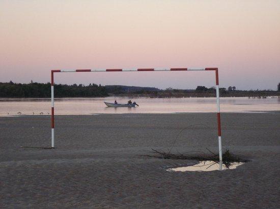 Rosario Do Sul, RS: praia no inverno