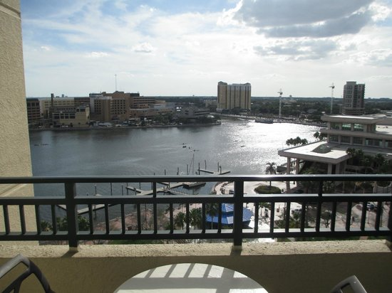 view from suite 1701 picture of tampa marriott waterside. Black Bedroom Furniture Sets. Home Design Ideas