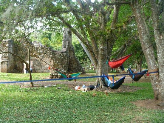 Ruinas de Ujarras: Descansando en las hamacas de Eno Costa Rica!