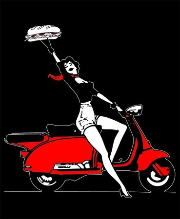 Red Scooter Deli: Scooter Gal