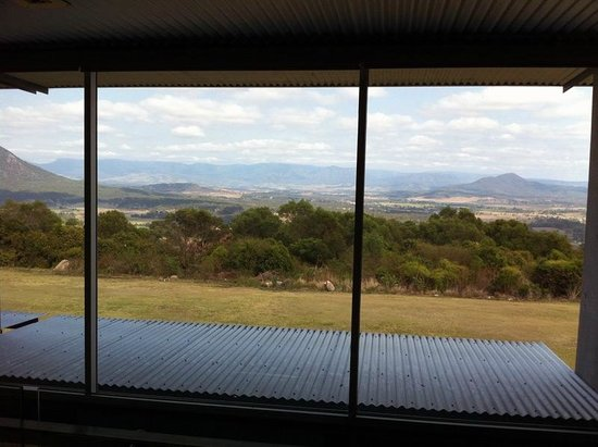 The Bunyip Scenic Rim Resort: View from apartment bedroom upstairs