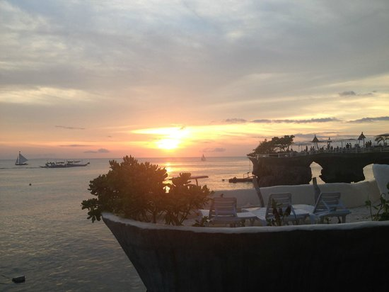 Spider House Resort: Sunset view from the terrace
