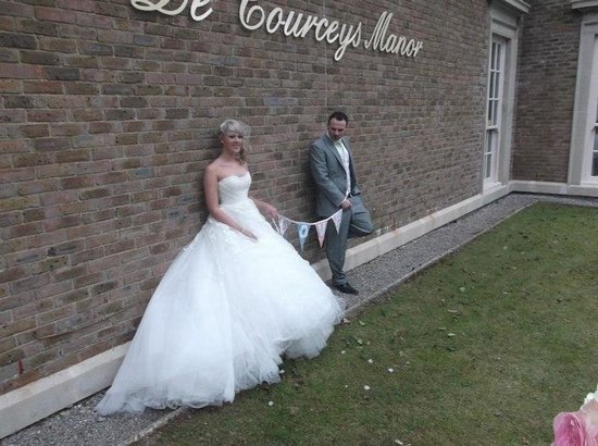 On our wedding at De Courceys Manor