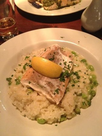 White Hart Hotel: risotto with salmon