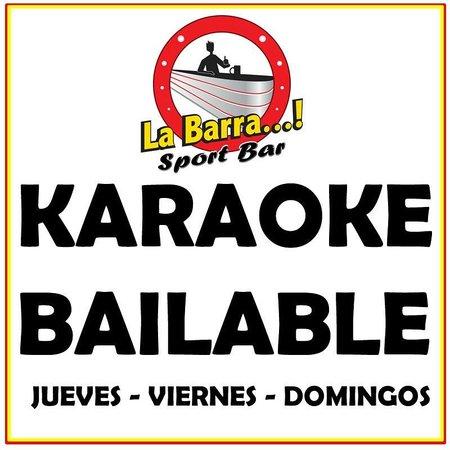 La Barra Sport Bar : KARAOKE BAILABLE