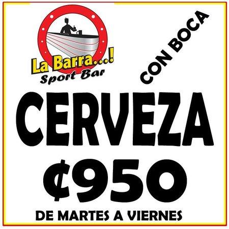 La Barra Sport Bar : CERVEZA 950