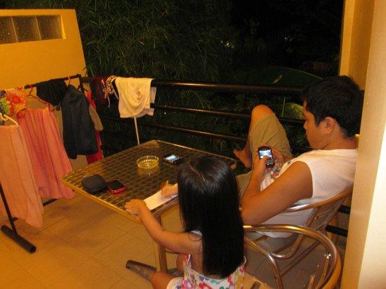 Qubo Qabana Resort & Hotel: veranda