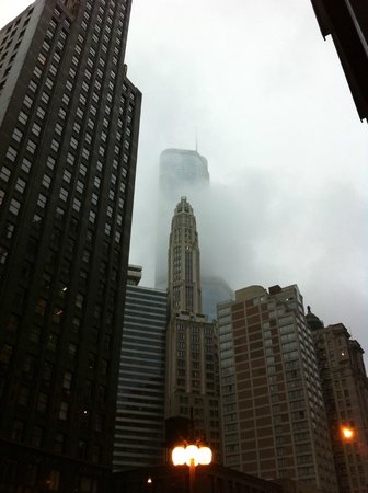 Trump International Hotel & Tower Chicago: The Trump surrounded my clouds