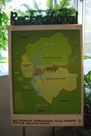 Belum Rainforest Resort: map of the island