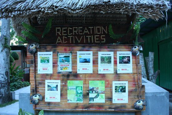 Belum Rainforest Resort: Recreation Activities availabe