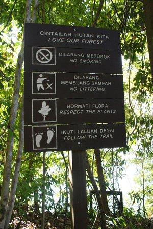 Belum Rainforest Resort: tracking signboard