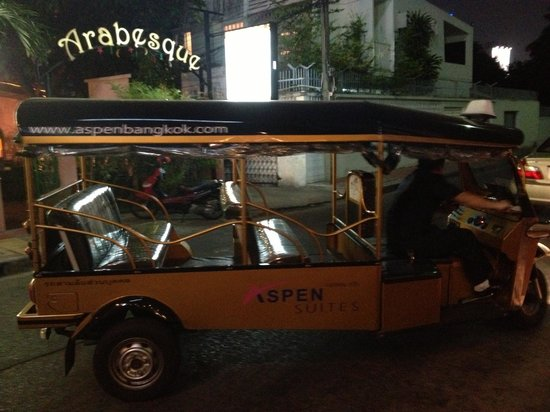 Aspen Suites Bangkok: Our Hotel TukTuk to give you a lift
