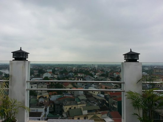 Thanh Uyen Hotel Hue : Rooftop Cafe View