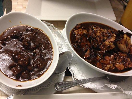 O-Tower Caribbean Cuisine: Jerk chicken and beef stew
