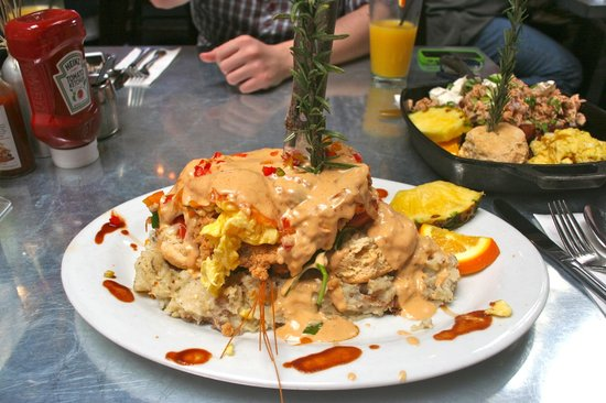 Man vs food picture of hash house a go go las vegas for Cuisine vs food