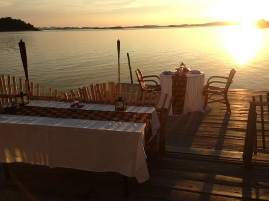 Telunas Beach Resort: Romantic dinner