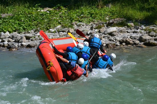 Frogs Rafting: Flipping, Passerelle des Pêcheurs, Dranse