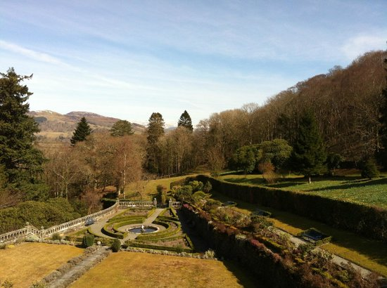 Penmaenuchaf Hall: View from the Wynne Jones room