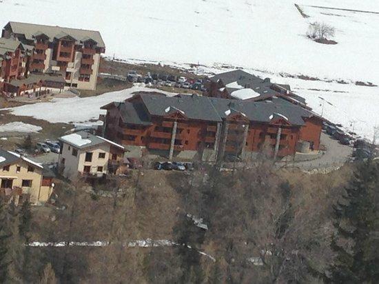 Les Balcons de Val Cenis Le Haut : View from the piste