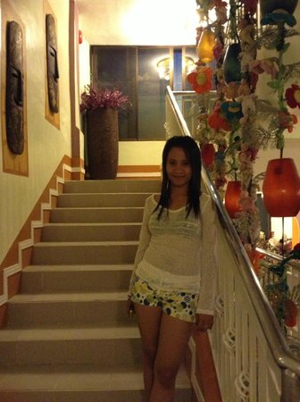 DreamWave Hotel: At their staircase going to 2nd floor.