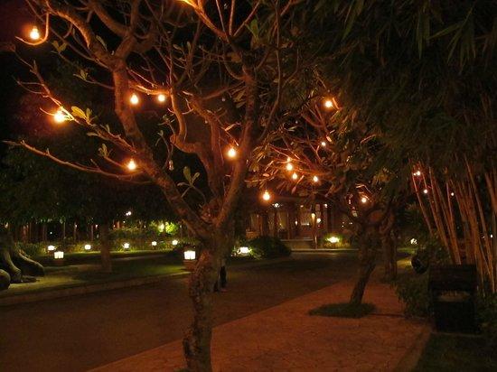 Rupar Mandalar Resort: the grounds at night. Magical1