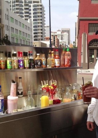 Bub's at the Beach: Bloody Mary Bar