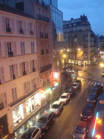 Atelier Saint-Germain: View from the balcony - looking down Rue Vavin