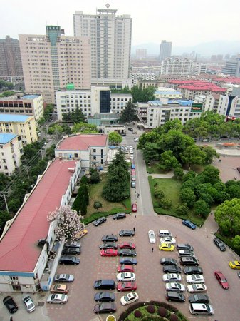Yixing International Hotel: View from window in the afternoon. Hotel is across from Renmin Hospital.