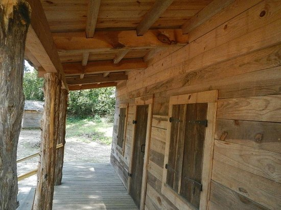 Living History Park: Old cabin front porch