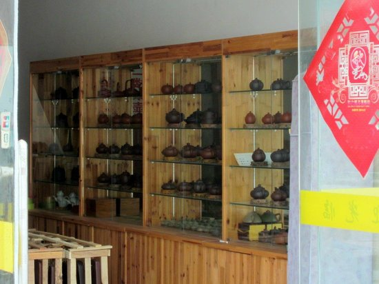 Yixing china Museum: Many teapots.