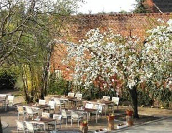 Burg Hotel Ziesar: Hofgarten mit Terrasse