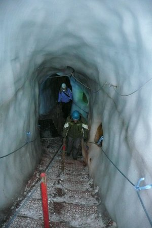 Natur Eis Palast : gang in de ijsgrot