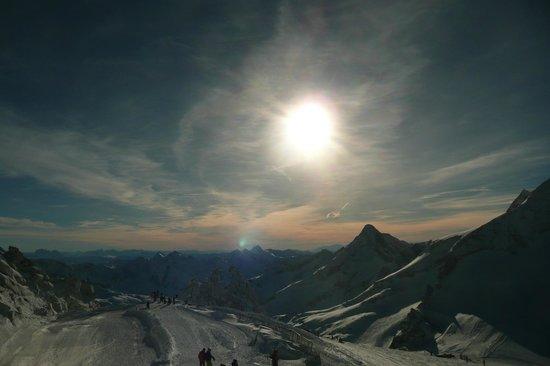 Natur Eis Palast : uitzicht op de top