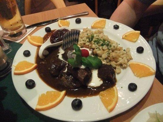 Cafe Am Luitpoldpark: Venison goulasch