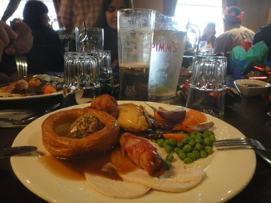 Almoço de Natal no Rose and Crown