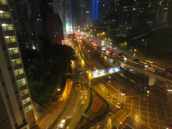 Dorsett Wanchai, Hong Kong: night view from room towards causeway bay