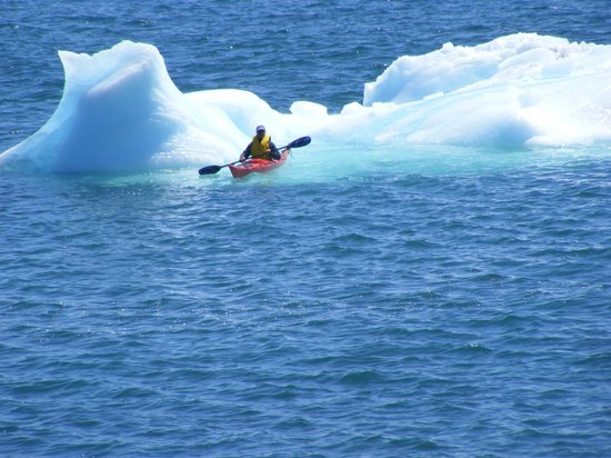 Harbour Grace, Canada: George kayak and small iceberg.