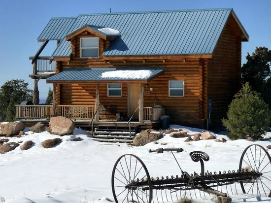 Morris' Last Resort : Pioneer Cabin in Winter