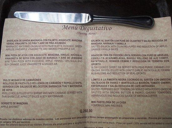 Restaurante Casa Santo Domingo: Tasting Menu