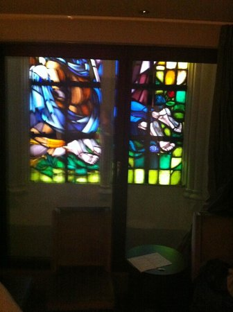Martin's Patershof: Stained glass window in my room