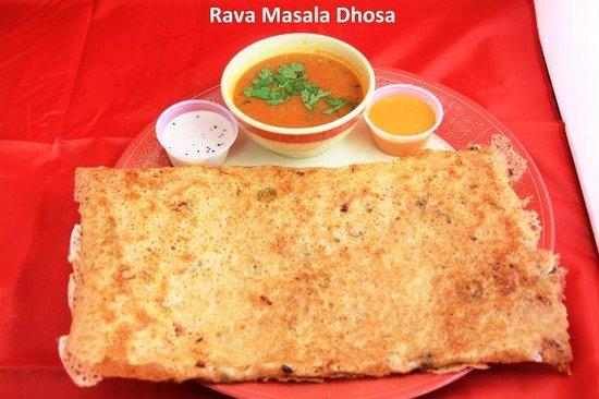 Standard Sweets and Snacks: Rava Masala Dosa