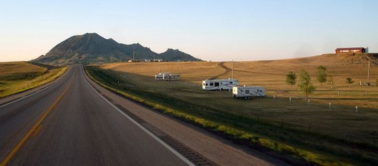The Iron Horse Campground from Highway 79