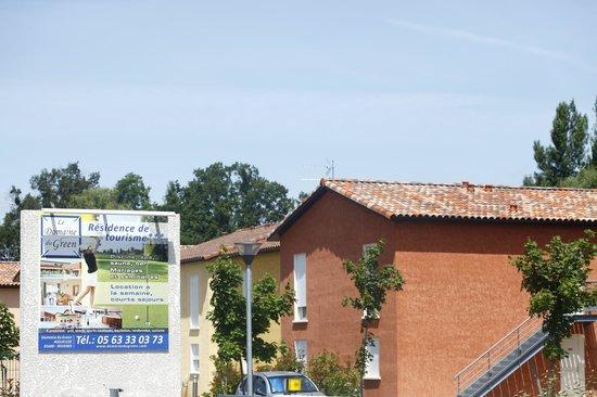 Domaine Du Green : l'entrée de la résidence