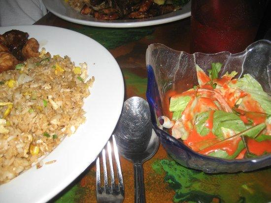 Sakura Cafe: hibachi dinner and salad
