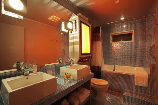 Roxbury, Estado de Nueva York: The Glow-in-the-Dark-Tile Bathroom in the Final Frontier Suite