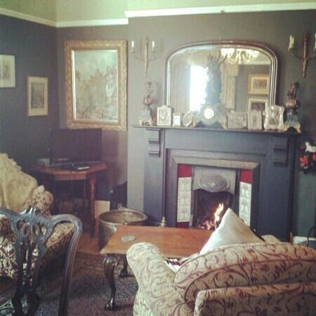 Victorian Guesthouse: lovely warm fireplace