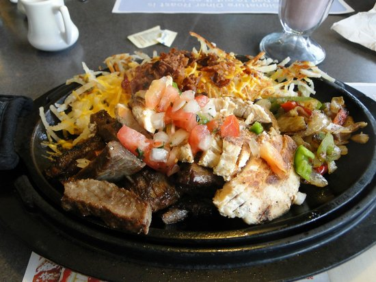 Denny's: Very good grilled chicken/steak/ hash browns combo