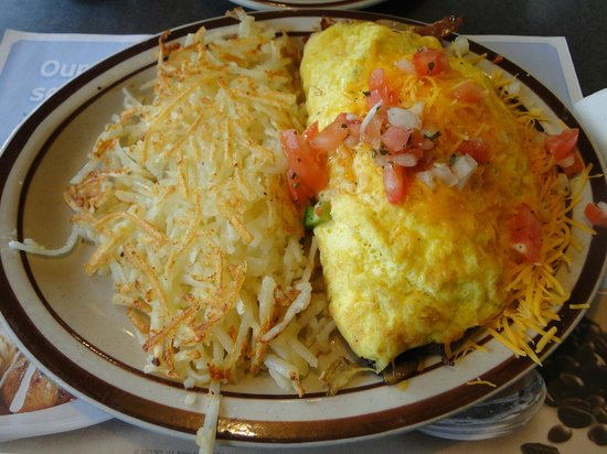 Denny's: Very filling omelette / hash browns