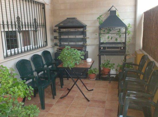 Alojamiento Los Poetas : Barbacoa